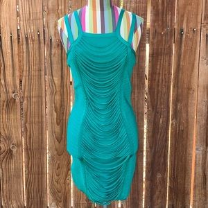 Bebe Teal Green Bodycon Mini Dress